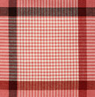 Red checkered fabric for background