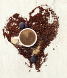 Fototapeta Coffee heart