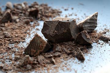 Crumbled chocolate