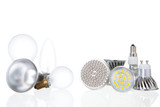 LED lamps and conventional lamps on white
