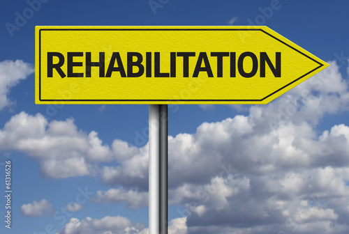 Rehabilitation creative sign