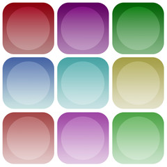 Apps color circle smoth icon set