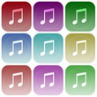 Apps color music smoth icon set