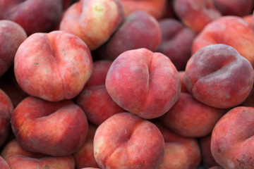 Saturn peach or chinese flat peaches
