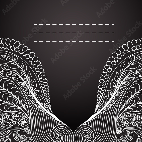 Invitation card with ornate detailed ornament. Vector/EPS 10