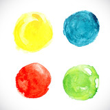 Set watercolor circle element for your design. Vector /EPS 10