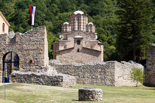 The orthodox monastery Ravanica in Serbia