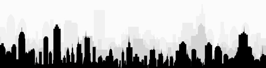 Cityscape skyline at Morning-vector