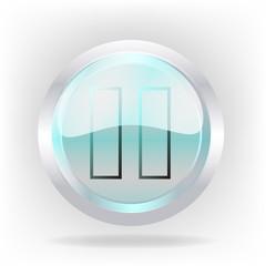 3d pause cristal icon