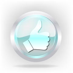 3d cristal hand icon