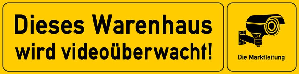 Warenhaus - Hinweisschild für Videoueberwachung - g512 - vu6