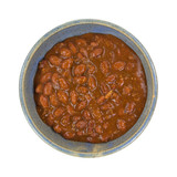 Chili With Beans In Bowl Top View