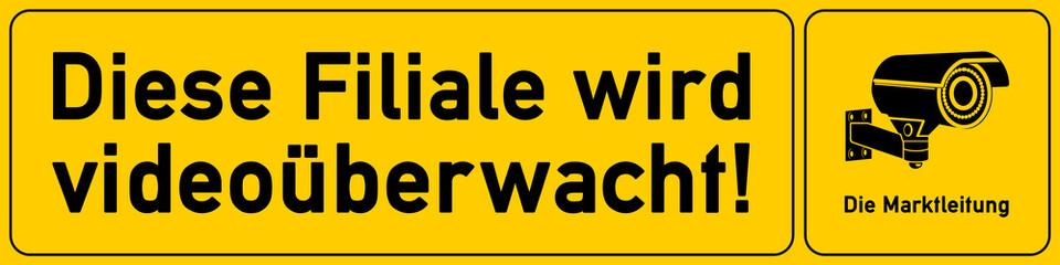Filiale - Hinweisschild Videoueberwachung - g516 - vu10