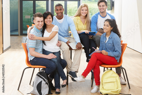 Multi-Ethnic Group Of Students In Classroom