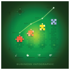 Modern Jigsaw Puzzle Business Infographic Background Design Temp