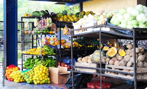 Rural latin american fruit and vegetables market