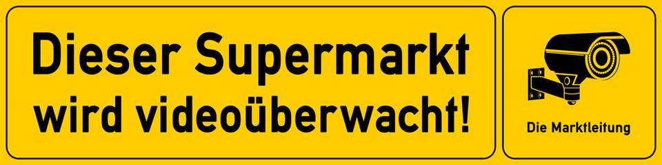 Supermarkt - Hinweisschild Videoueberwachung - g518 - vu12