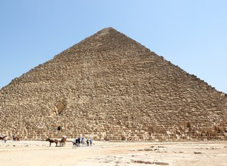 The Great Pyramid of Giza, Cairo.