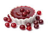 Ripe cranberry topping