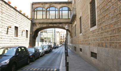 Vista de la calle egipciaques en Barcelona