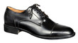 canvas print picture - Mans black leather shoe