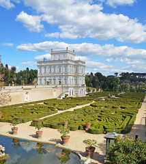 panorama di villa pamphili a roma in italia