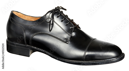 canvas print picture Mans black leather shoe