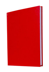 Red book standing isolated