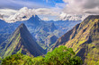 Leinwanddruck Bild - Point de vue Cap Noir, La Réunion