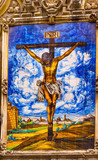 Christ Crucifixion on Cross Ceramic Street Mosaic Seville Spain