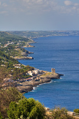 Panoramic view of Tiggiano. Puglia. Italy.
