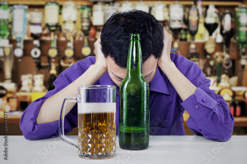 Young Businessman Drunk