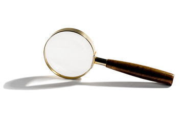 Small handheld magnifying glass