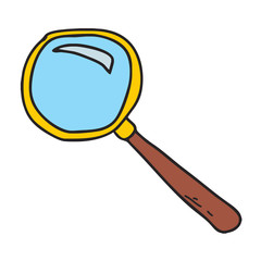 glass magnifying search magnifier magnify zoom look icon vector