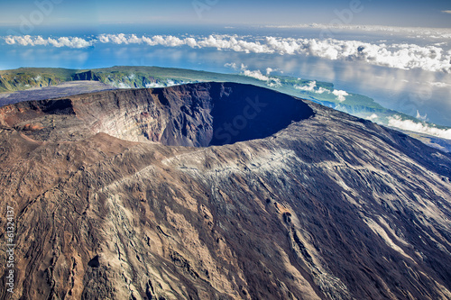 Beautiful view of Crater Dolomieu, Piton de la Fournaise, La Ré