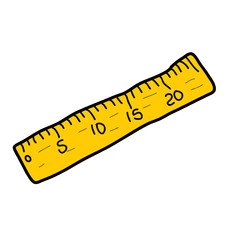 ruler yellow measure tape measuring tool instrument vector isola