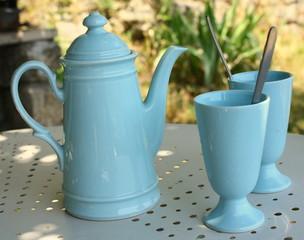 pause café au jardin