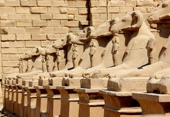 Avenue of the Sphinxes. Karnak Temple Complex, Luxor, Egypt.