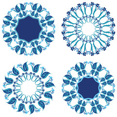blue oriental ottoman design twenty