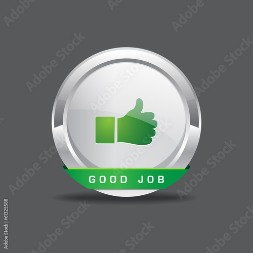 Good Job Thumbs Up Vector Icon Button