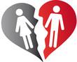Scheidung Symbol Frau