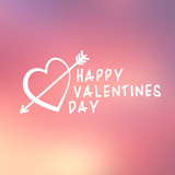 Abstract background with text for st. Valentine's day