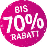 Sticker 70% Rabatt violett