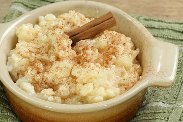 rice pudding with cinnamon