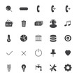 Set icons for business, communication, web