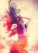 Leinwanddruck Bild - disco disco 08 / dancing splash