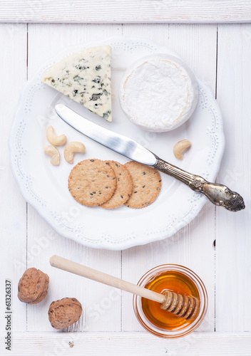 Various types of cheese. Сheese plate .