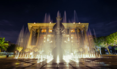 Music Center lighted fountain