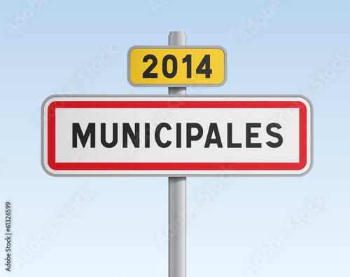 Panneau - Municipales 2014