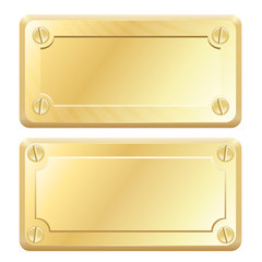 Vector Gold Metal Labels - Nameplates